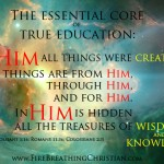 The Beginning of Learning: Christ as the Essential Core of Children's Education