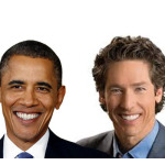 What do Barack Obama and Joel Osteen have in common…with George W. Bush?