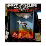 "This Satanic Temple Holiday Display Has Been Brought To You By: American Pride and ""Freedom"""