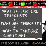 Torture for Terrorists + Christians as Terrorists = Torture for Christians