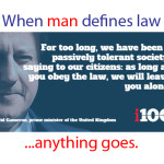 "Did ""conservative"" British Prime Minister Cameron just confirm that man-centered ""law"" is about lead us to Orwellian hell?"