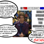 """Which """"god"""" would grant the """"right"""" to openly worship Satan? Hmmm…I wonder…"""